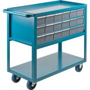 Kleton – Chariot de tablettes à tiroirs, Matériau du chariot : Acier; Capacité : 1200 lb, Nombre de tiroirs : 18