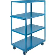 "Kleton Heavy-Duty Shelf Cart, Overall Width: 24"", Cart Material: Steel, Construction: All-Welded"