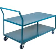 "Kleton Heavy-Duty Low Profile Shop Carts, Capacity: 1200 Lbs., Overall Height: 40"", Overall Depth: 72"""