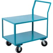 "Kleton Heavy-Duty Low Profile Shop Carts, Capacity: 2400 Lbs., Overall Height: 41"", Overall Depth: 60"", 6"" Nylon"