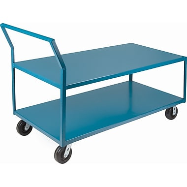 Kleton Heavy-Duty Low Profile Shop Carts, Capacity: 2400 Lbs. Overall Depth: 72