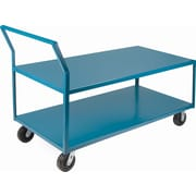 "Kleton Heavy-Duty Low Profile Shop Carts, Capacity: 2400 Lbs., Overall Height: 41"", Overall Depth: 72"""