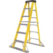 "Featherlite Heavy Duty Fibreglass ""Grate"" Stepladder - 5900 Series, Nominal Height: 8', Capacity: 300 Lbs. (5908)"