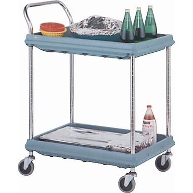 Deep Ledge Utility Cart, Capacity: 400 Lbs., No. of Shelves: 3, Cart Material: Chrome Plated (BC2636-3DG)