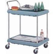 Deep Ledge Utility Cart, Capacity: 400 Lbs., No. of Shelves: 3, Cart Material: Chrome Plated (BC2636-3DG)