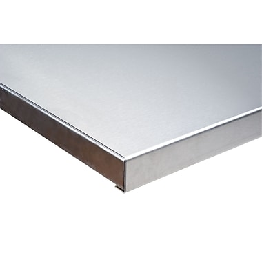 Kleton 304 Stainless Steel Wood-Filled Workbench Tops, Depth: 36