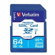 Verbatim® - Carte mémoire SDXC Premium 64Go, UHS-I Classe 10 (44024)
