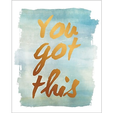 Artissimo Designs – Toile galerie « You Got This » en aluminium, 19 x 15 po (68365ECCD1)