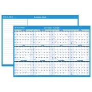 "2017 AT-A-GLANCE® Horizontal Erasable Wall Calendar, 12 Months, Reversible for Planning Space, 36"" x 24"" (PM200P-28-17)"