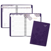 """2017 AT-A-GLANCE® Abby Premium Weekly/Monthly Planner, 13 Months, 5 1/2"""" x 8 1/2"""", Purple (584-200-17)"""