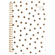 """2017 AT-A-GLANCE® Glitz & Glam Weekly/Monthly Planner, 12 Months, 4 7/8"""" x 8"""", Dots Design (138D-200-17)"""