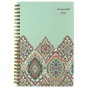 "2017 AT-A-GLANCE® Marrakesh Weekly/Monthly Planner, 12 Months, 4 7/8"" x 8"", Light Green (182-200-17)"
