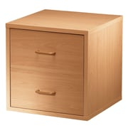 Hazelwood Home Carrabba Storage Cabinet; Honey