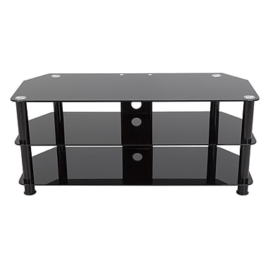AVF Glass TV Stand; Black