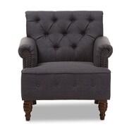 Wholesale Interiors Maria Club Chair; Dark Gray