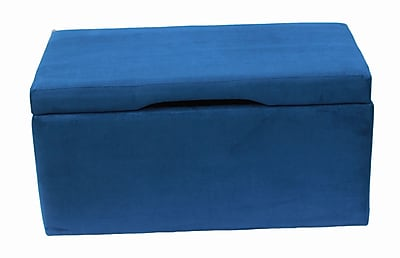 CrewFurniture Beau Upholstered Storage Bench; Estate Blue