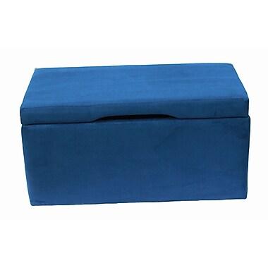 CrewFurniture Beau Upholstered Storage Bedroom Bench; Estate Blue