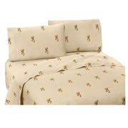 Browning Buckmark 200 Thread Count 100pct Cotton Sheet Set; Full