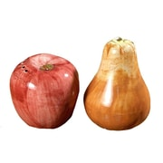Intrada 2 Piece Apple and Pear Salt and Pepper Shaker Set