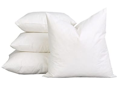 A1 Home Collections LLC Sterilized Extra Fluff and Durable 100pct Cotton Pillow Insert (Set of 2)