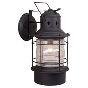 Vaxcel Nautical 1-Light Outdoor Wall Lantern; Textured Black