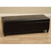Warehouse of Tiffany Upholstered Bedroom Bench; Black