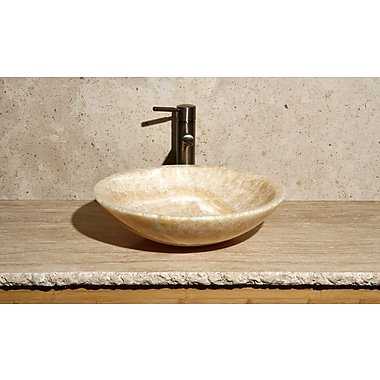 Allstone Group Round Vessel Bathroom Sink; Sancrystal / High Sheen Polish