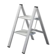 Slim Step Urbanity Step Ladder w/ 225 lb. Load Capacity; Silver