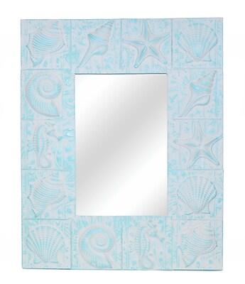 Hickory Manor House Seaside Wall Mirror; Cool Blue Aqua