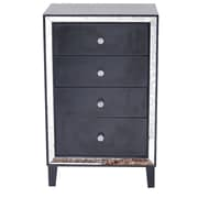 Heather Ann Avery 4 Drawer Cabinet; Black