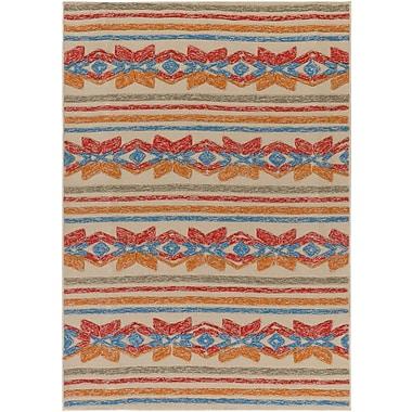 Artistic Weavers Mayan Star Hand-Tufted Poppy Red / Tangerine Indoor/Outdoor Area Rug; 4' x 6'