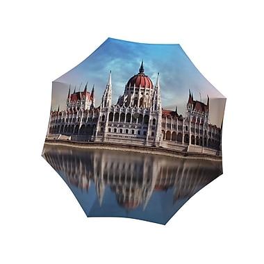 La Bella Umbrella – Parapluie en aluminium/fibre de verre à ouverture et fermeture manuelle, motif Budapest
