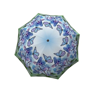 La Bella Umbrella All Fiberglass Stick/Straight Umbrella, Butterflies Design
