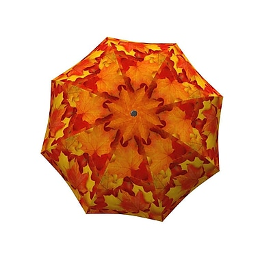 La Bella Umbrella All Fiberglass Stick/Straight Umbrella, Canadian Autumn Design