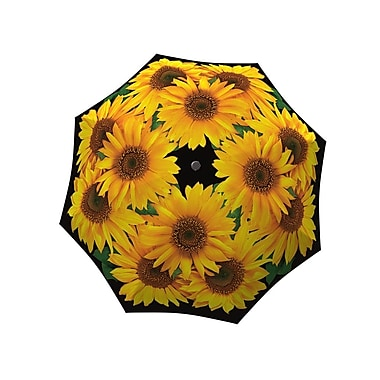La Bella Umbrella Aluminum Fiberglass Automatic Open & Close, Sunflower Design