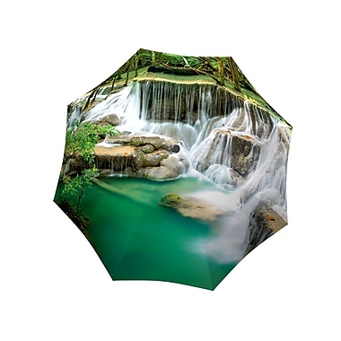 La Bella Umbrella All Fiberglass Stick/Straight Umbrella, Thailand Waterfall Design