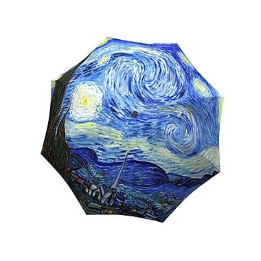 La Bella Umbrella Aluminum Fiberglass Manual Open & Close, Van Gogh Design