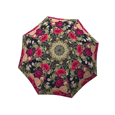 La Bella Umbrella Aluminum Fiberglass Automatic Open & Close, Vintage Roses Design