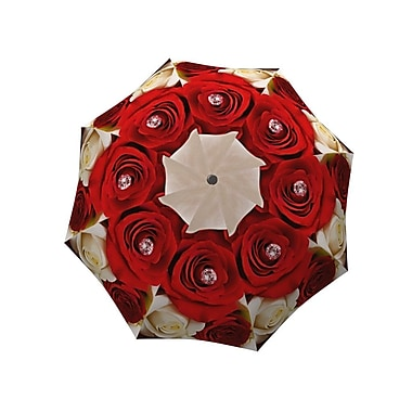 La Bella Umbrella Aluminum Fiberglass Automatic Open & Close, Wedding Roses Design