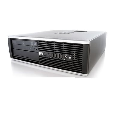 HP – PC de table SFF 6000 remis à neuf, Intel Core 2 Duo 3 GHz, RAM 4 Go, DD 500Go, DVD, Windows 10 Pro, anglais