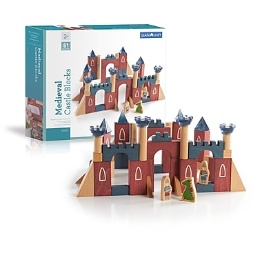 Guidecraft G9802 Medieval Castle Blocks, Various Size, Multicolour