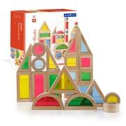 Guidecraft – Blocs de construction Jr. Rainbow G3083, 40 pièces, différentes tailles, multicolore