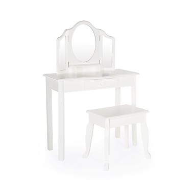 Guidecraft G85710 Classic White Vanity and Stool