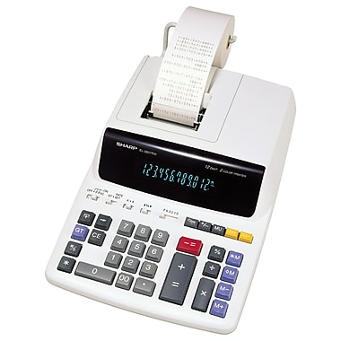 Sharp - Calculatrice imprimante 12 chiffres, (EL2607RIII)