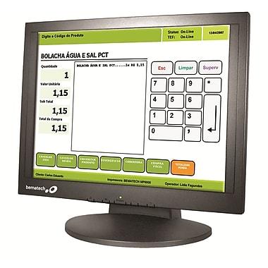 Moniteur tactile résistif USB, 17 po, support de fixation installé et lecteur de carte magnétique 3 pistes, 12,1 lb (LE1017M)
