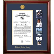 PATF Navy Certificate Petite Picture Frame; 8'' x 10''