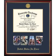 PATF Air Force Discharge Petite Picture Frame; 8'' x 10''