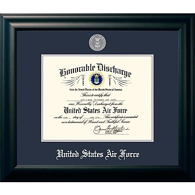 PATF Air Force Discharge Picture Frame; 14'' x 10''