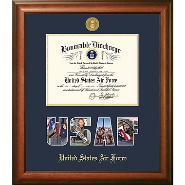 PATF Air Force Discharge Picture Frame; 8'' x 10''