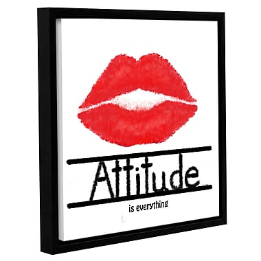Latitude Run 'Attitude' Framed Textual Art on Wrapped Canvas; 14'' H x 14'' W x 2'' D